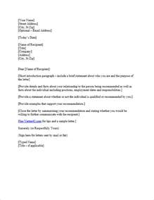 Reference Letter For A Bad Student Free Letter Of Reference Template Recommendation Letter Template
