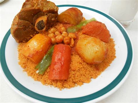 cuisiner couscous couscous 224 l agneau tunisian couscous with