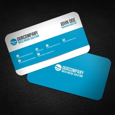 Rounded Edge Business Cards