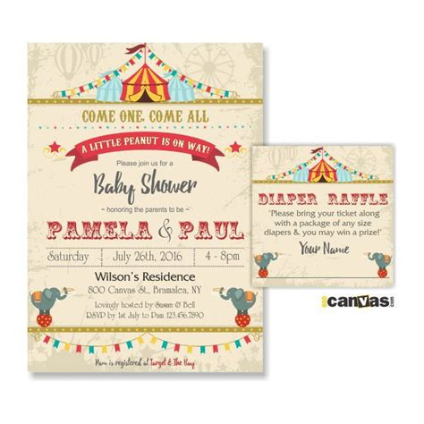 printable invitation kits baby shower the best circus baby showers ideas st birthday and baby