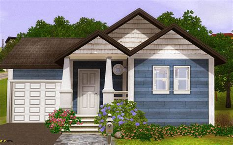 mod the sims blue starter home fully furnished with
