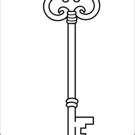 Key Outline Clip Free by Key Shape Coloring Page Drawing And Coloring Pages Marisa Hamanako