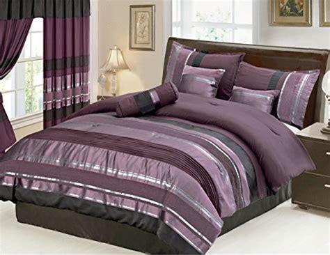 7 piece eggplant comforter set purple black size