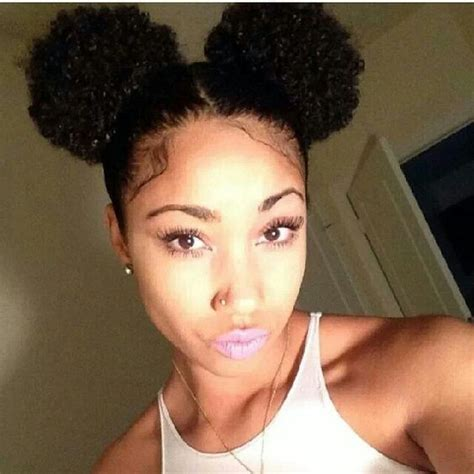 afro puff pocket bun hairstyles afro puff afro and pom poms on pinterest