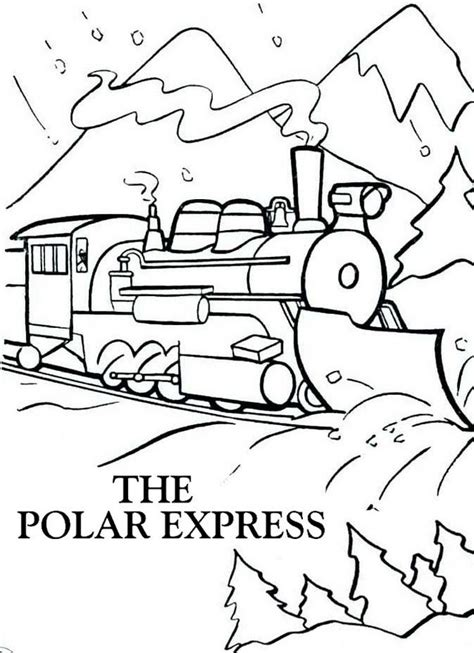 polar express coloring pages polar express winter coloring page
