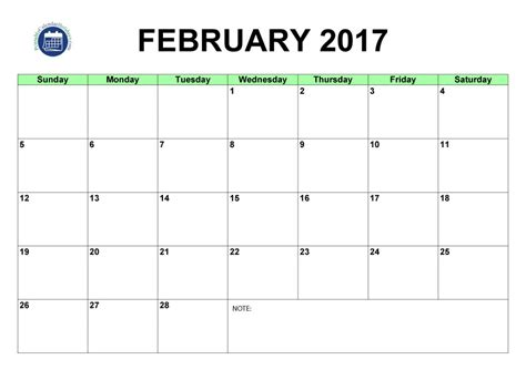 printable calendar 2016 to write notes search results for february 2016 calendar printable one