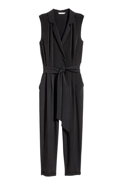 Hm Jumpsuit Ballo Fit L sleeveless jumpsuit black sale h m us