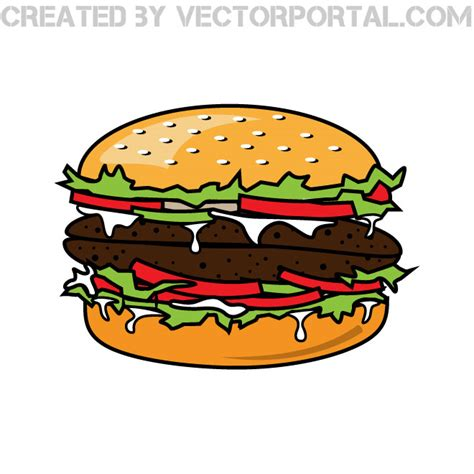 hamburger clipart hamburger vector clip at vectorportal