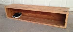 wooden storage bench reclaimed storage bench the grain