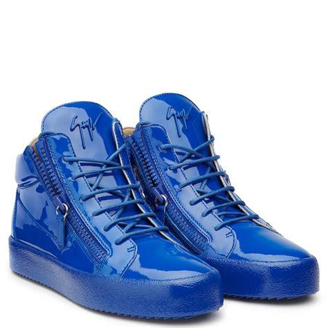 giuseppe zanotti blue sneakers giuseppe zanotti kriss mid tops sneakers blue gz429