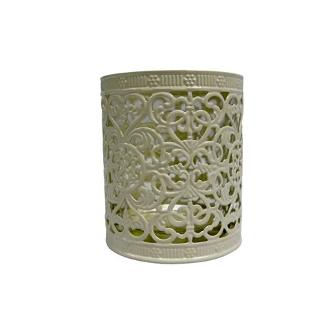 decorative cup candle holder beige