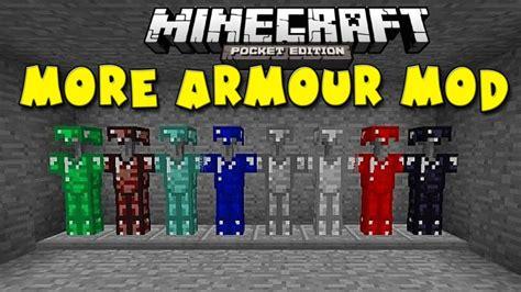 mods for minecraft pe minecraft pe mod more armour mod fuziondroid