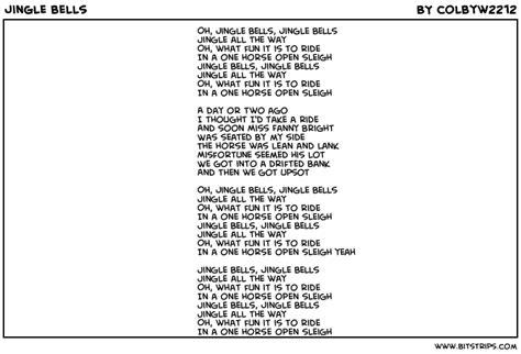 printable jingle bells lyrics free coloring pages