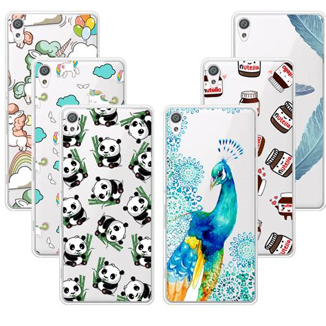 Soft Motif Iron Sony Experia Xa fashion design soft tpu for sony xperia xa transparent soft silicone cover phone cases