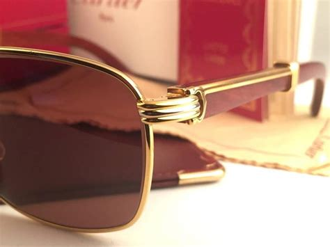 Sungglasses Kacamata Cartier T8200669 Box Sleting new cartier wood amboise gold and precious wood 56mm