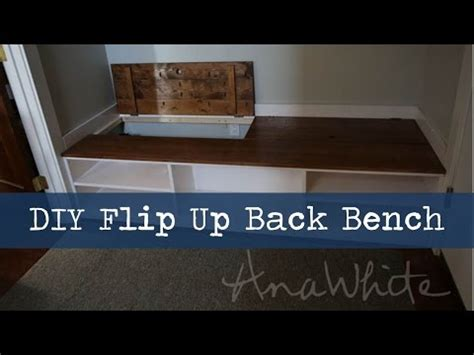 diy mudroom bench  hidden boot storage youtube