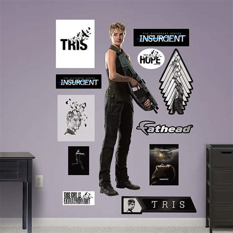 Divergent Room Decor by Tris Prior Insurgent Wall Decal Shop Fathead 174 For