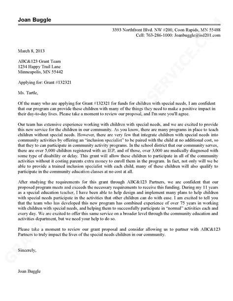 sample grant proposal cover letter   topl.tk