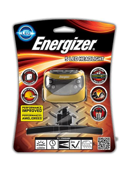 energizer rugged led headlight energizer 5 led headlight with universal attachment
