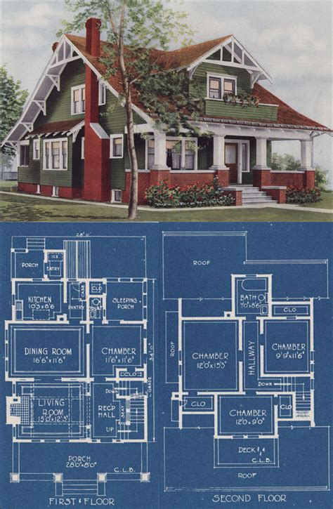 chicago bungalow house plans craftman bungalow style house 1921 american homes