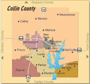 where is collin county on a map collin county
