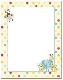 kid s room baby zoo animals letterhead