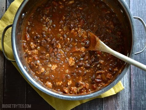 weeknight black bean chili budget bytes