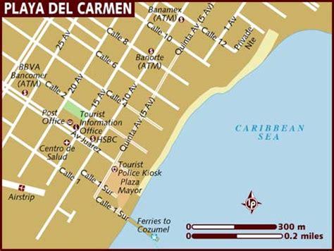 printable map playa del carmen mexico map