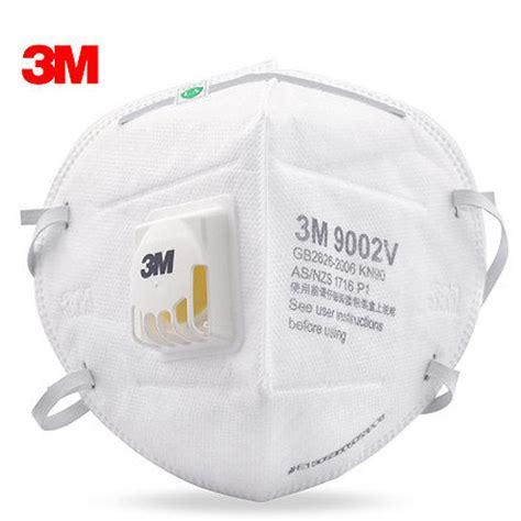 Masker Safety 5pcs 3m 9002v anti dust pm 2 5 mask anti influenza