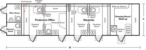 production floor plan 5 room production honeywagon 36 hollywood honeywagon
