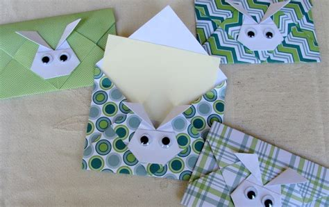 Origami Bunny Envelope - katherina krafts easter bunny origami envelopes
