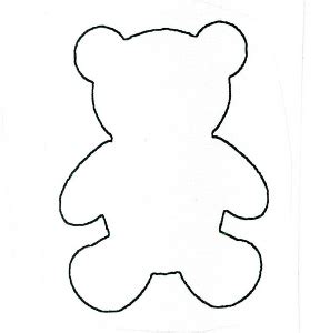 cut out teddy template teddy templates clipart best