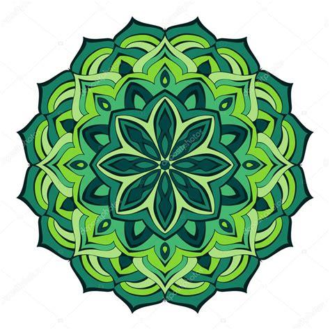 imagenes de mandalas verdes mandala de lujo de l 237 neas fluidas en colores verdes