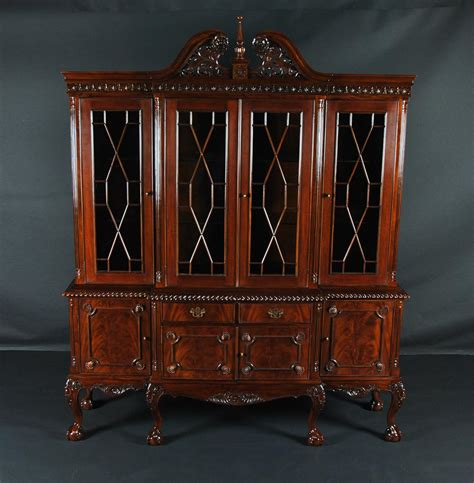 dining room china cabinet claw mahogany dining room china cabinet with gadroon
