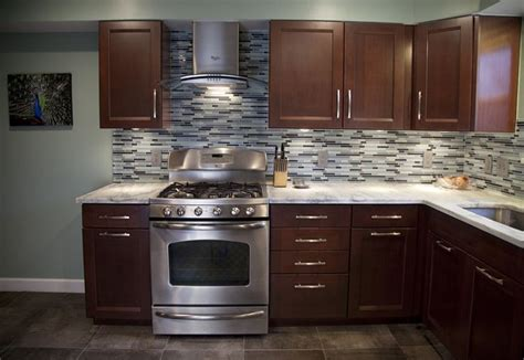 cherry kitchen cabinets kitchens with grey floors kitchen grey kitchen cherry cabinets quicua com