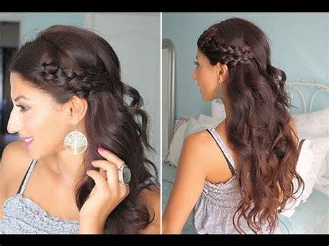 braided hairstyles luxy simple braided summer hair youtube