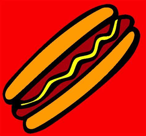imagenes de un hot dog dibujo de frankfurt pintado por hot dog en dibujos net el
