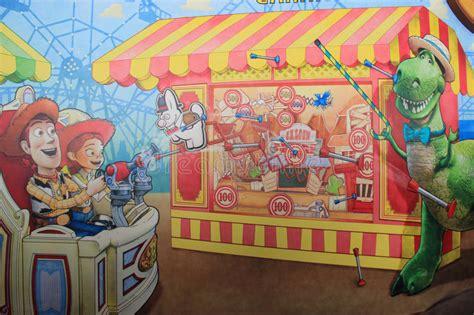themes tokyo story toy story mania at tokyo disneysea editorial photography