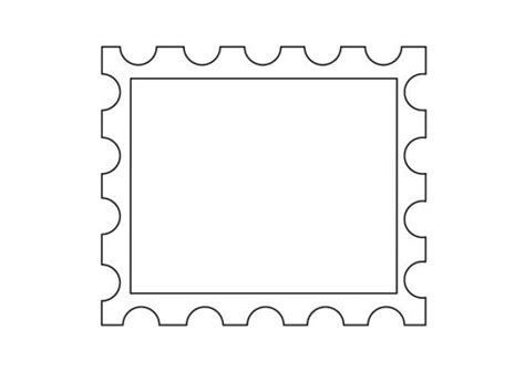 postage stamp template printables pinterest coloring