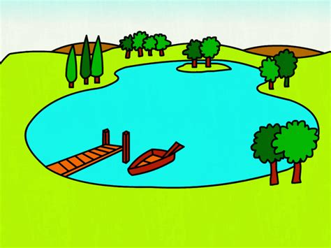 boat on lake clipart x cartoon lake clip art related keywords pond clipart free
