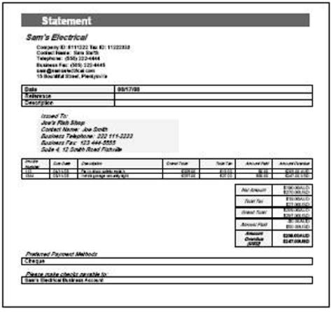 Invoice Statement Free Printable Invoice Statement Of Invoices Template Free