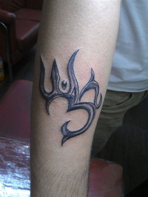 tribal om tattoo tattoos designs pictures and ideas tribal om and trishul