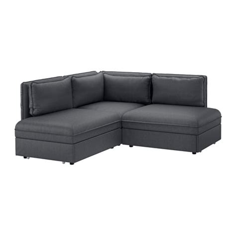 Seat Sleeper by Vallentuna Sleeper Sectional 2 Seat Hillared Gray