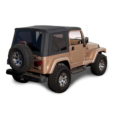 97 Jeep Wrangler Top Jeep Wrangler Tj Soft Top 97 02 In Black Denim W Tinted