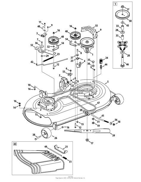 troy bilt pony mower parts diagram troy bilt 13wn77ks011 pony 2012 parts diagram for mower deck