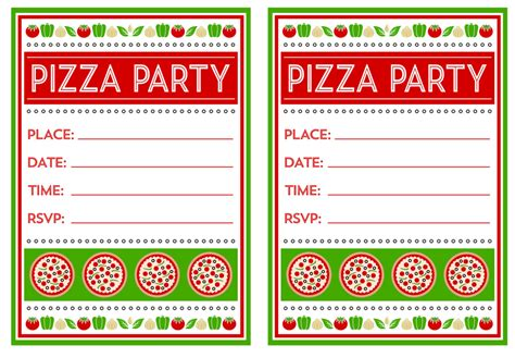 Pizza Birthday Party Idea For Your Kids Home Party Theme Ideas Pizza Invitation Template