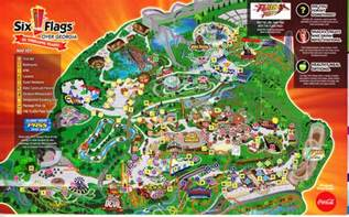 map of six flags six flags park map map