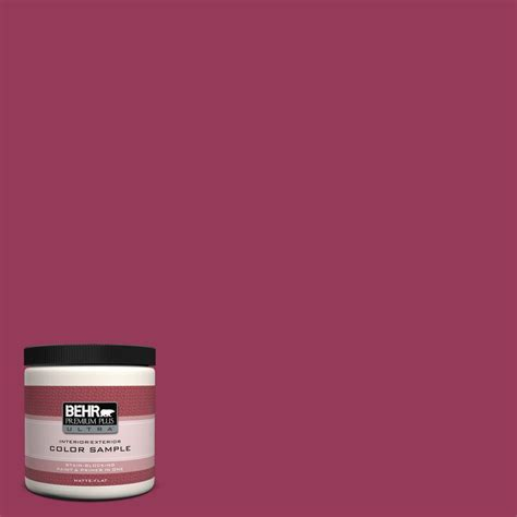 behr premium plus ultra 8 oz 110b 7 raspberry pudding interior exterior paint sle 110b 7u