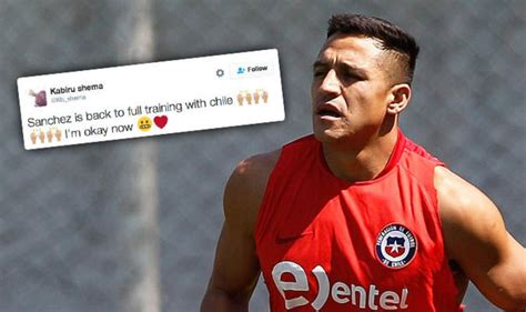 alexis sanchez twitter alexis sanchez injury twitter reacts as arsenal ace back