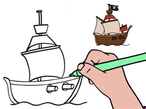 dessin de bateau facile a faire vid 233 o comment dessiner un bateau de pirates